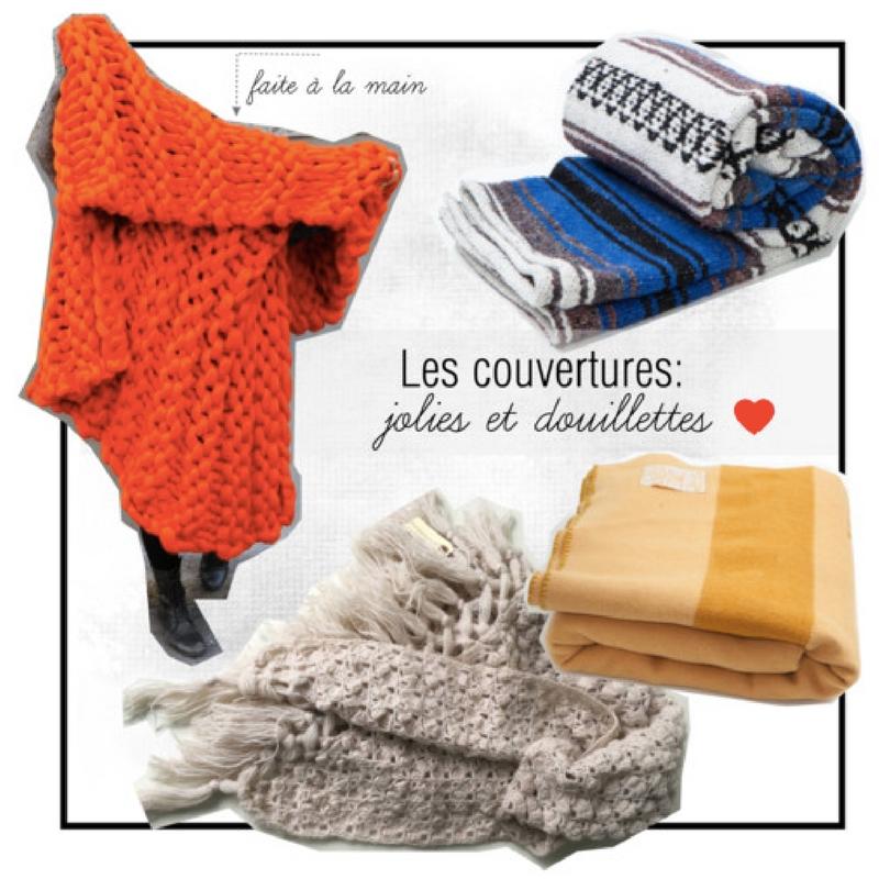 des couvertures pour un novembre plus doux